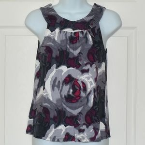 Express Boat Neck Tank - Gray/Red/Purple